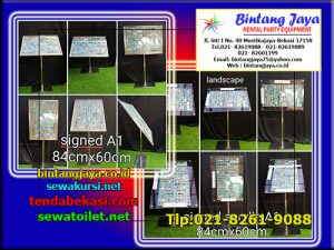Menyewakan Sign Board Acrylic