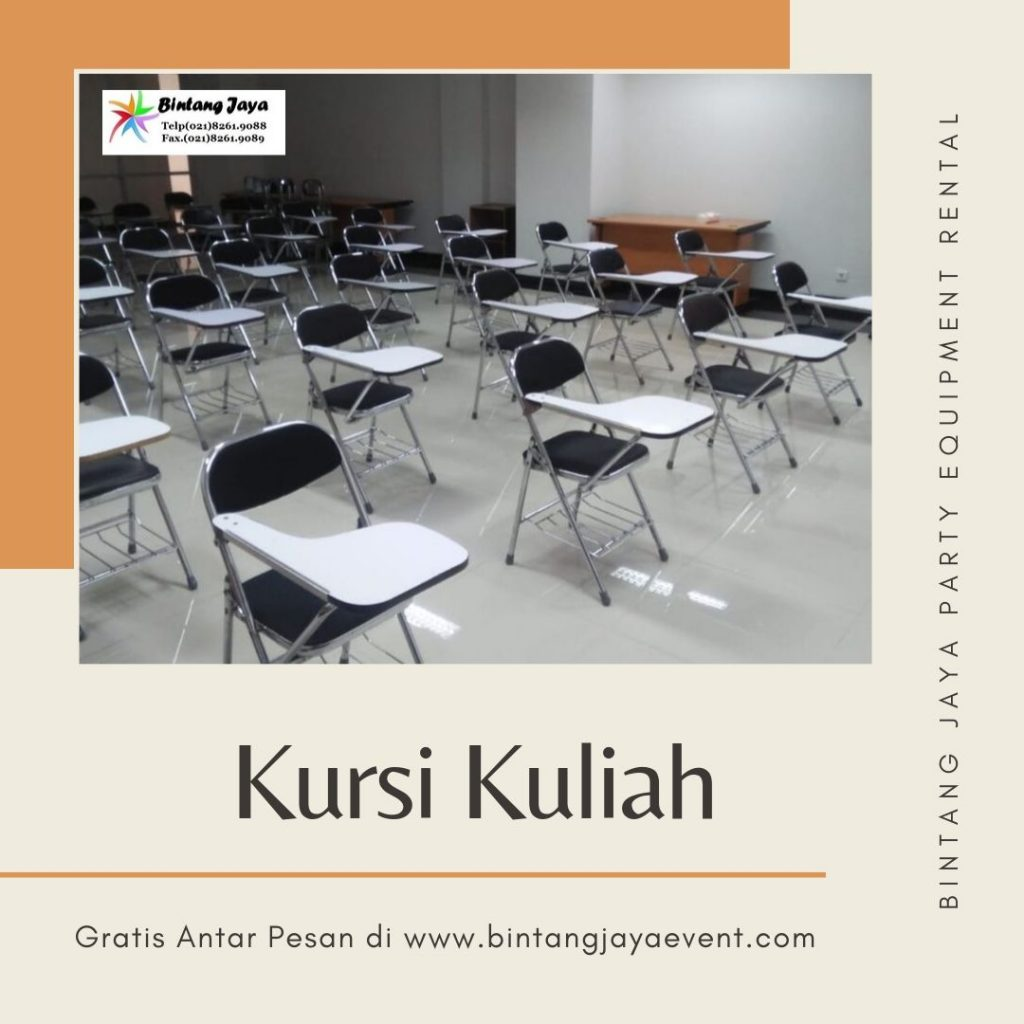 Rental kursi kuliah standar international