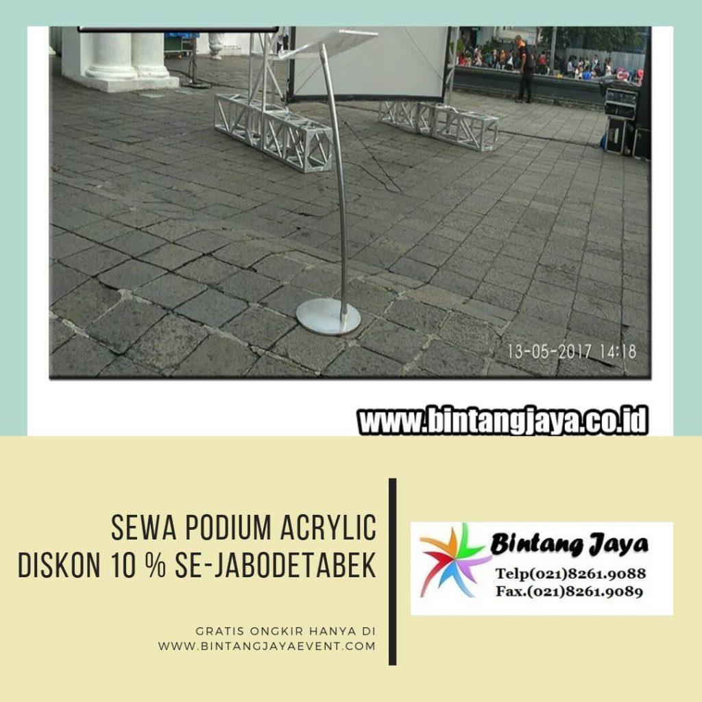 Rental Podium Acrylic Promo Diskon 10%