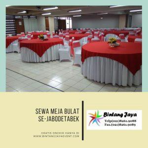 Rental Meja Bulat murah Tangerang