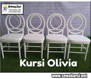Sewa Kursi Olivia Kota Bekasi dengan kualitas terbaik