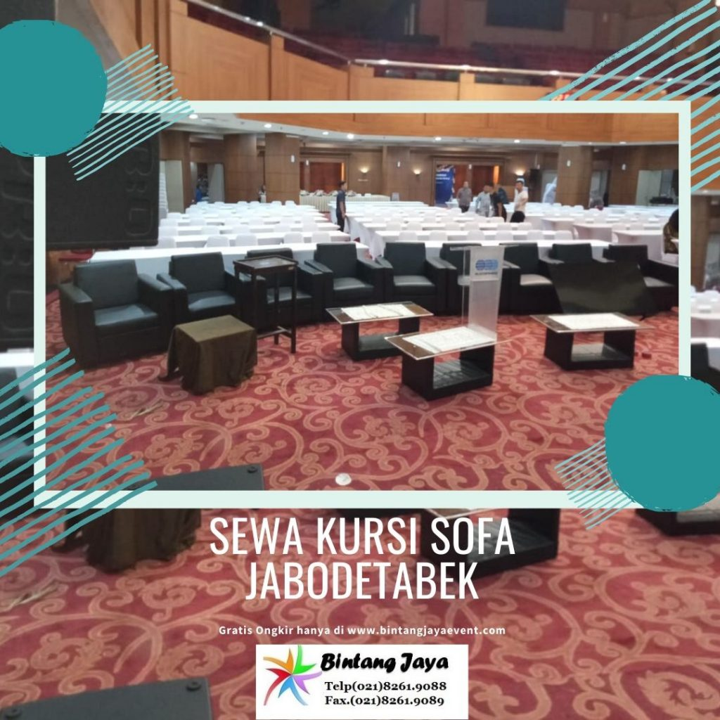 sewa sofa single dan double hitam & putih murah