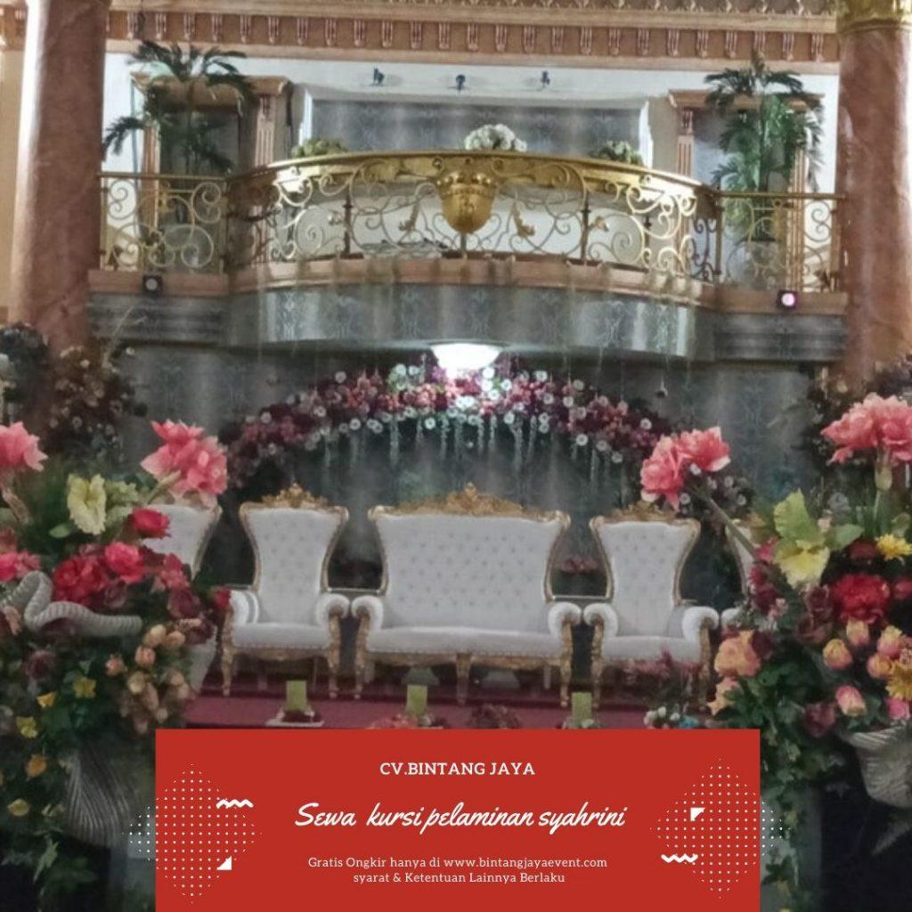 Sewa Kursi Pelaminan Syahrini murah Jabodetabek