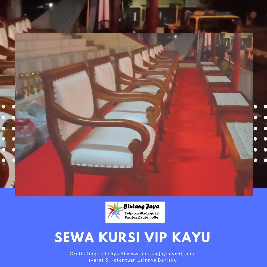 Sewa Kursi Kayu VIP Ciputat