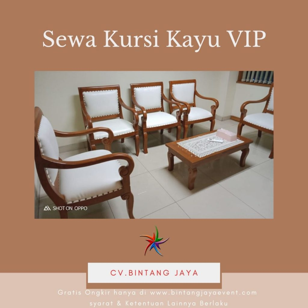 Sewa Kursi Kayu VIP Bogor