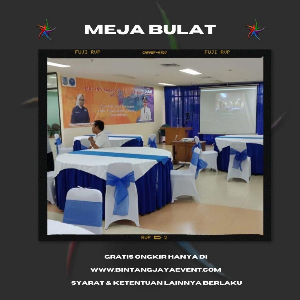 Sewa Meja Bulat di Bekasi Pelayanan Prima dan Berkualitas