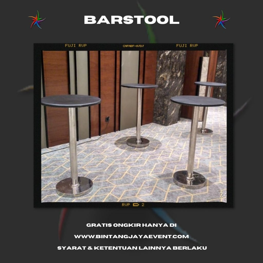 Sewa Meja Barstool di Jakarta Pusat Tersedia 1 set barstool murah kualitas berkelas