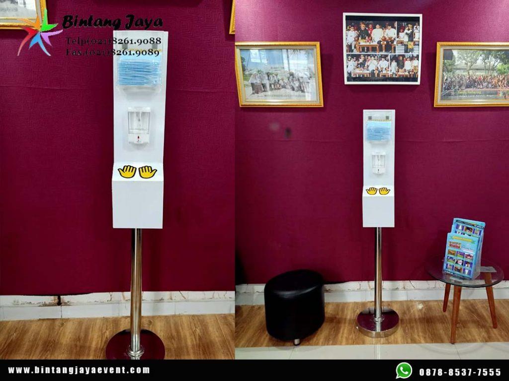 Sewa Automatic Hand Sanitizer Semarang + Dispenser Masker Support Event Vaksinasi