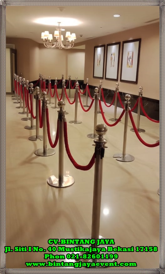 Rental Tiang Antrian (Standing Rope) Event Jakarta